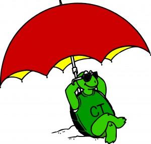 CT beach umbrella colored